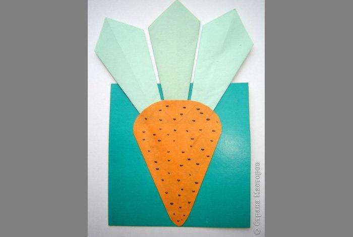 Поделка из бумаги на тему овощи и фрукты 976