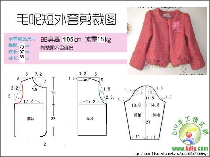 Как сшить пиджак для девочки