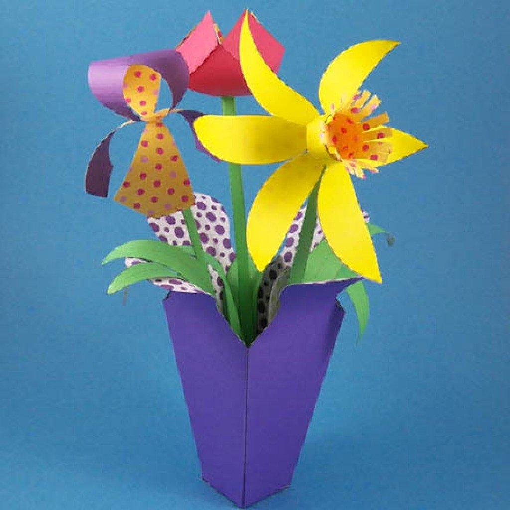 Как вырезать тюльпан из бумаги своими руками поэтапно