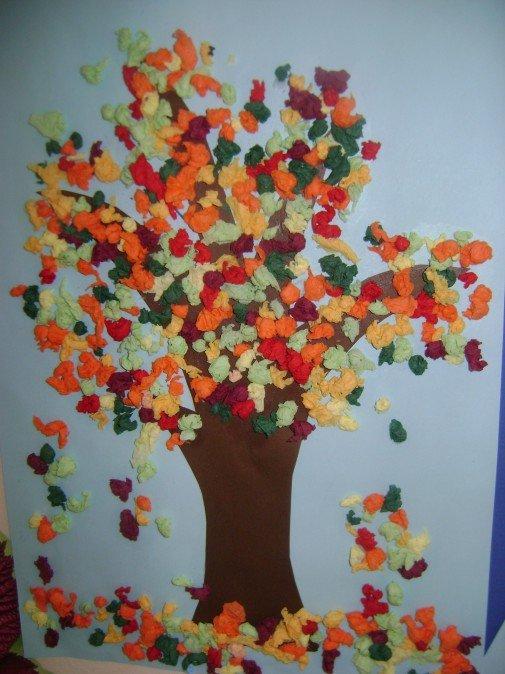 Поделки с детьми на тему деревья 85