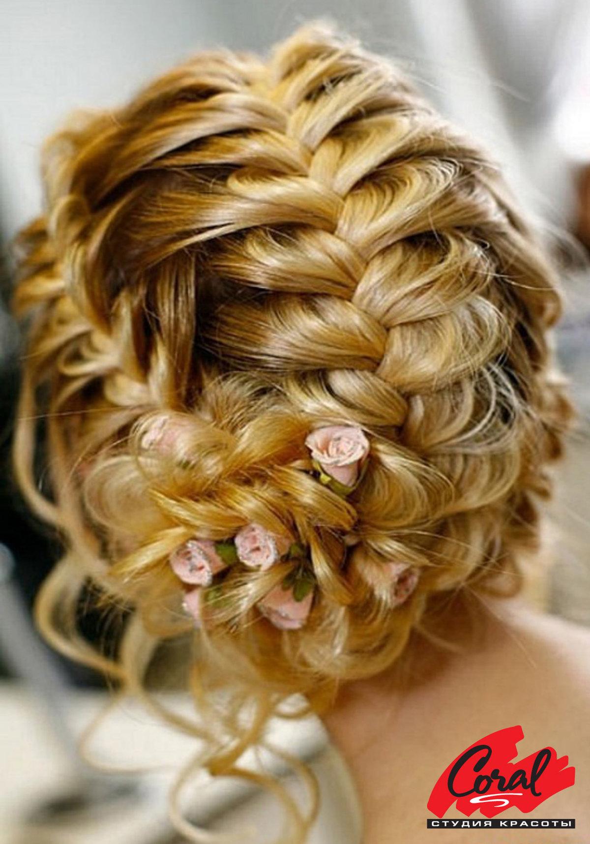 Прическа косички фото на средние волосы