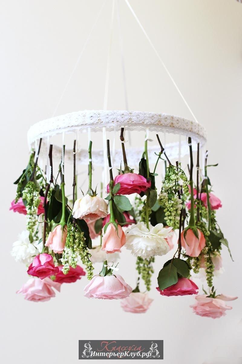Лампа из цветов фото