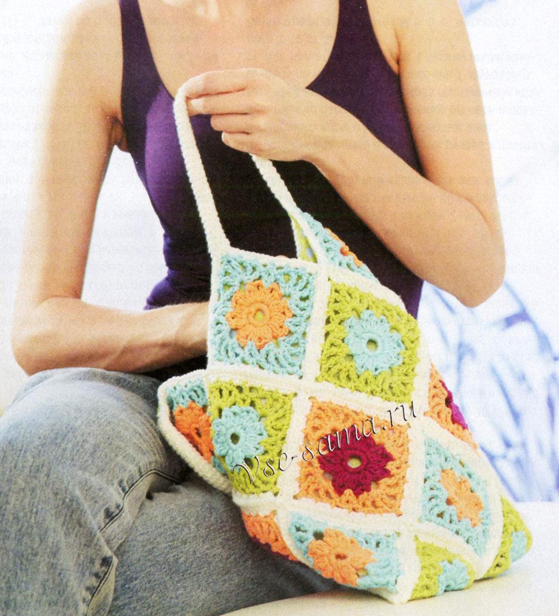 Вязание сумок из мотивов 703