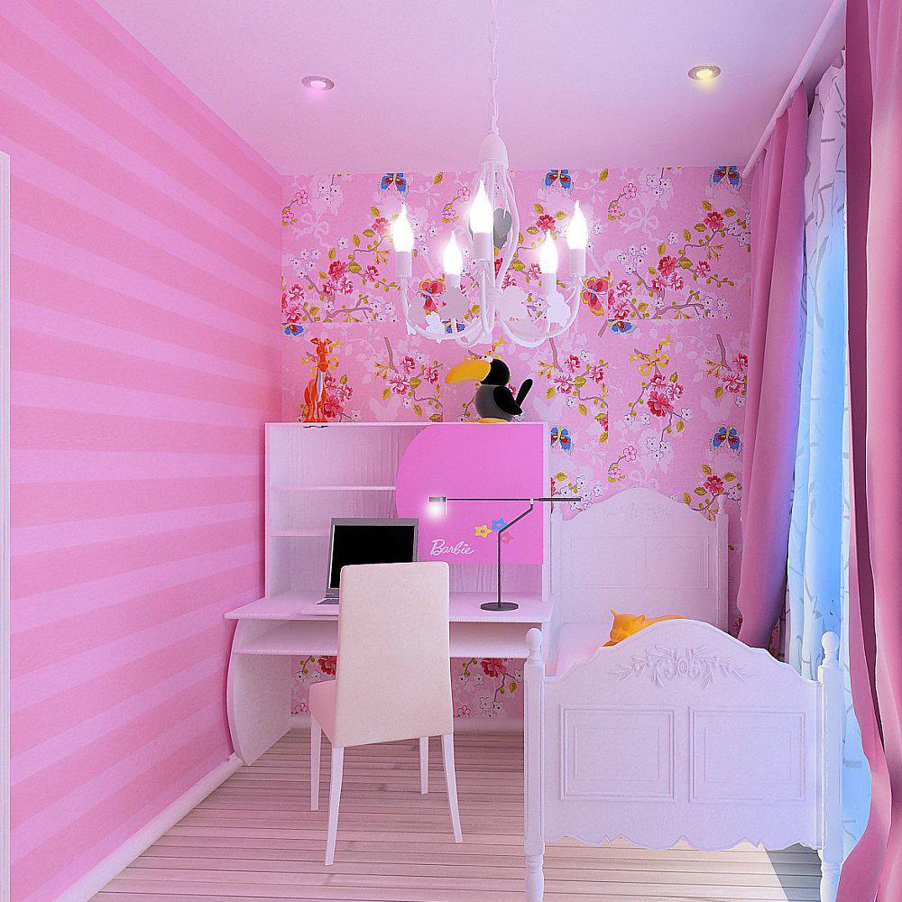 Детская комната для девочки : ремонт, 75 фото идей дизайна 39