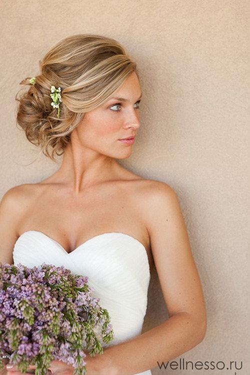 Свадебная прическа нежная