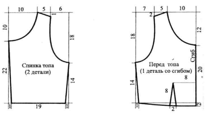 Выкройки топа для начинающих простые выкройки своими руками 72