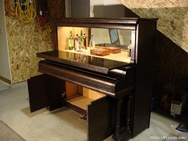 Из старого пианино- бар-сервант. - карточка от пользователя puhovartem13 в Яндекс.Коллекциях