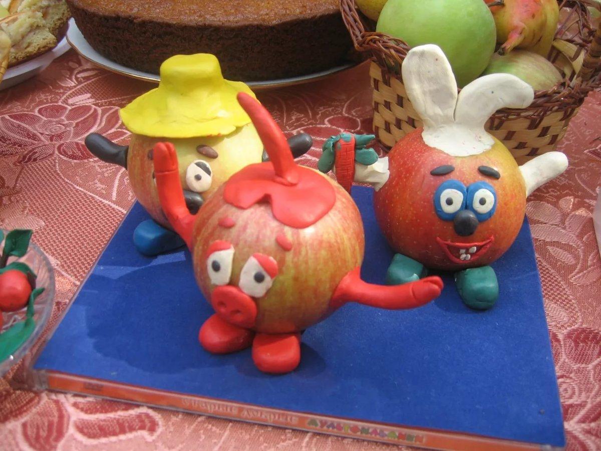 Поделки из яблок своими руками для детского сада фото как сделать 24