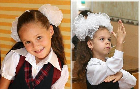 Причёски для девочек на 1 сентября 1 класс с бантами