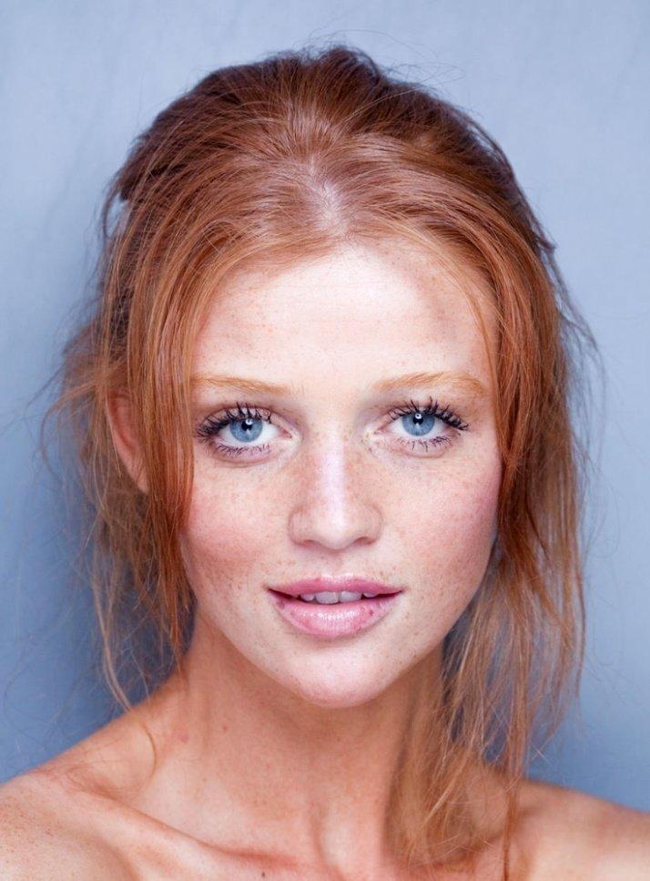 Фото макияж для лица с веснушками