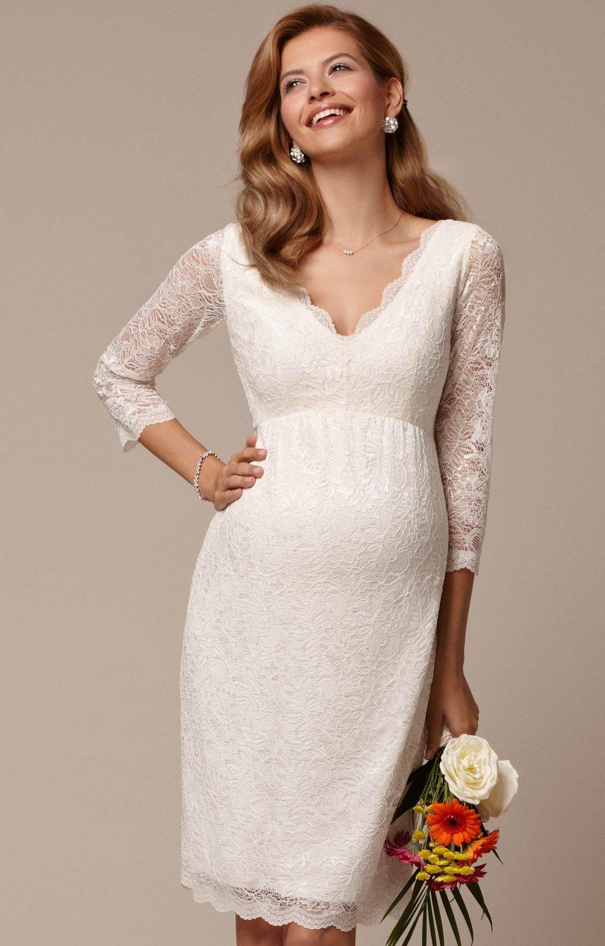 Платье для беременных свадебное