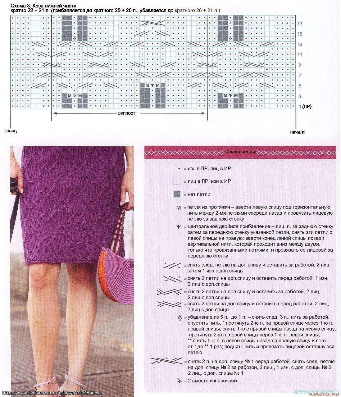 Связать женскую юбку спицами схемы и описание7