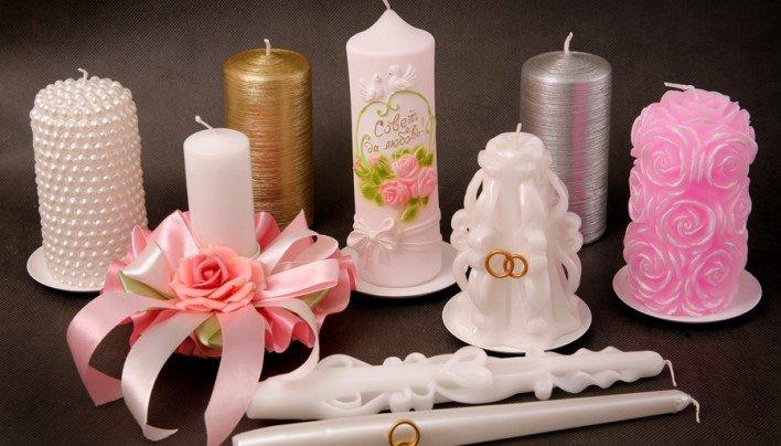 Свечи в подарок на свадьбу 32