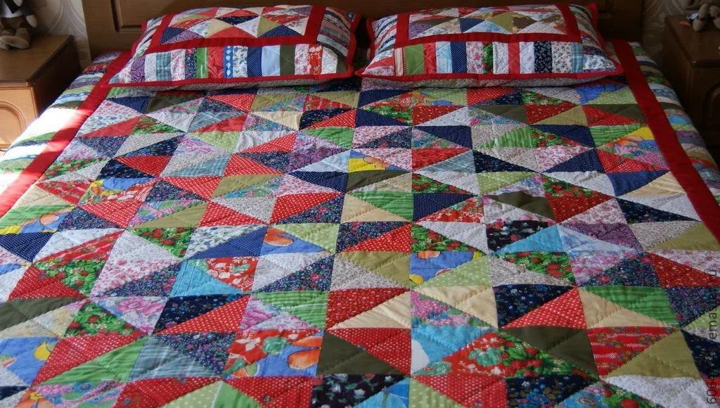 Лоскутное шитье одеяло своими руками 48