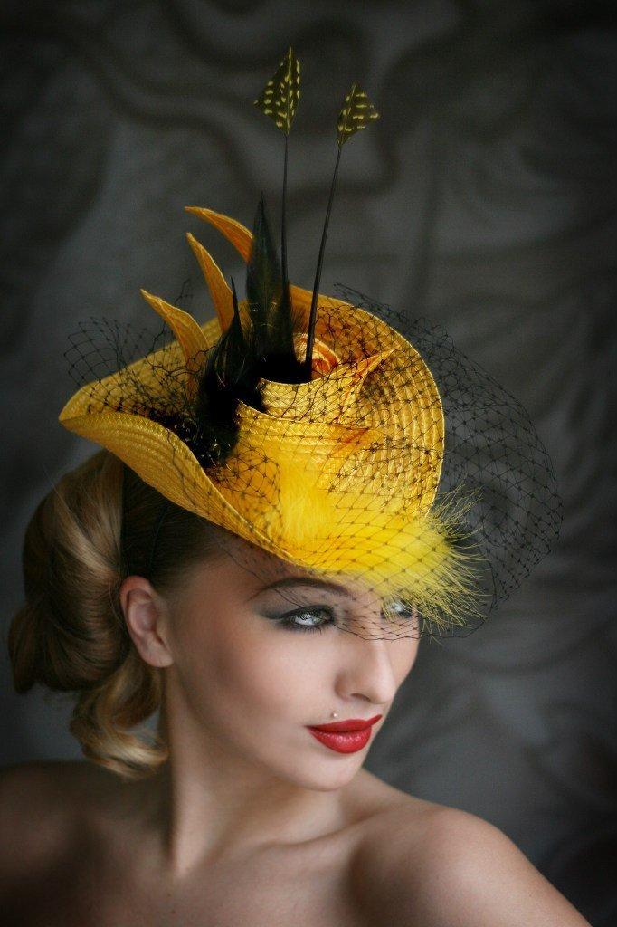 Шляпа с перьями своими руками 842