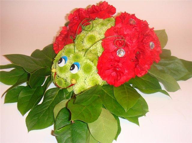 Поделка из живых цветов своими руками для детского сада 67