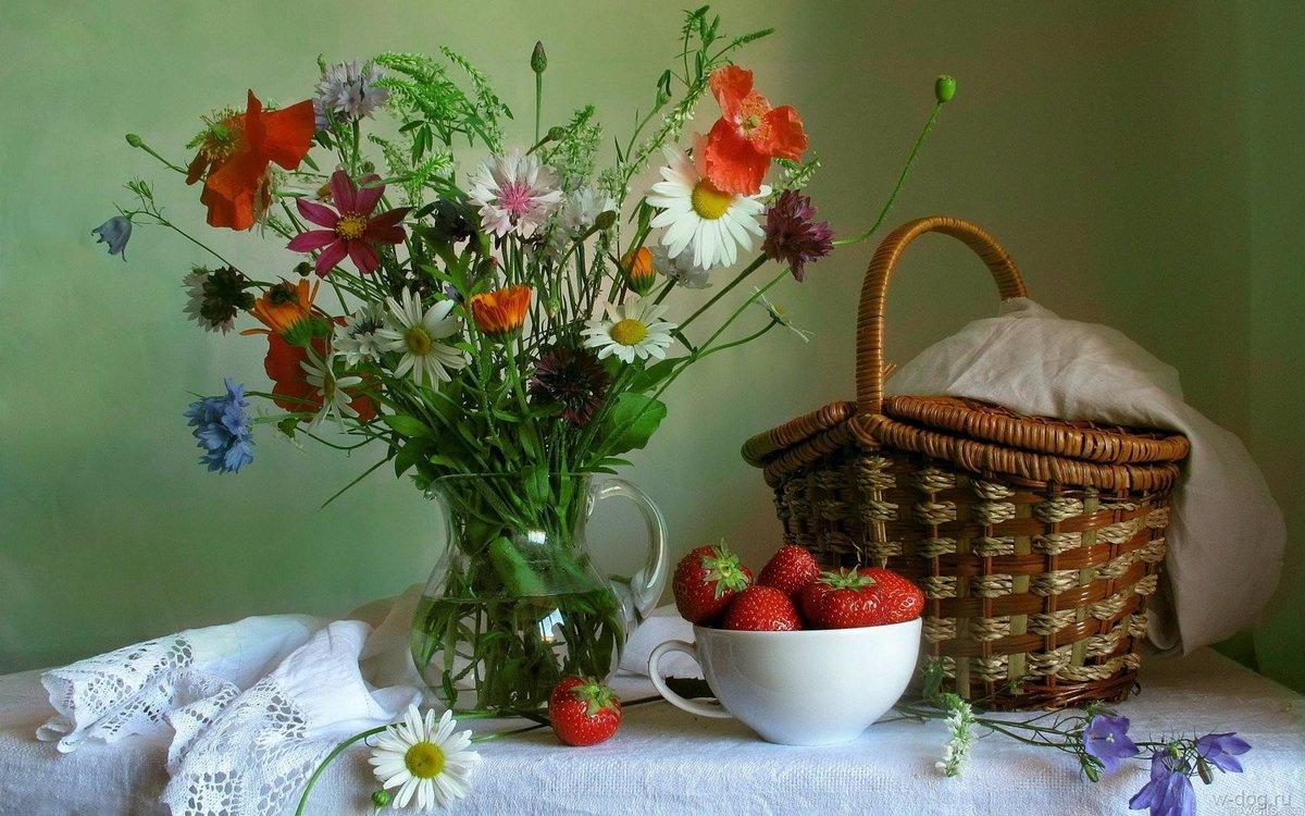 Фото натюрморта со цветами