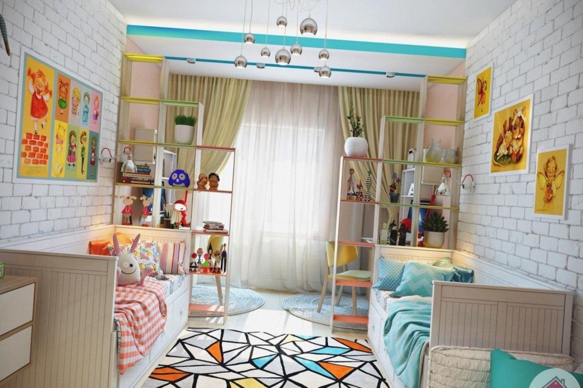 Интерьер детских комнат для разнополых детей разного возраста фото