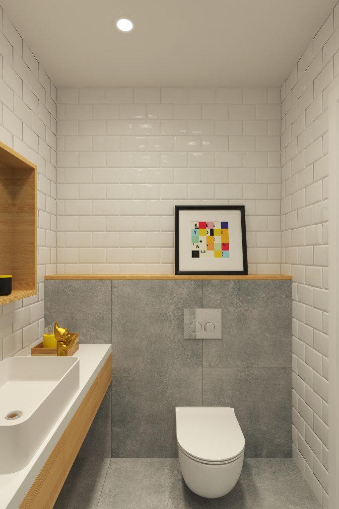 Интерьеры белых туалетов