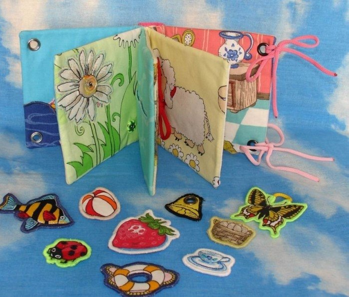Книжка-малышка из ткани своими руками