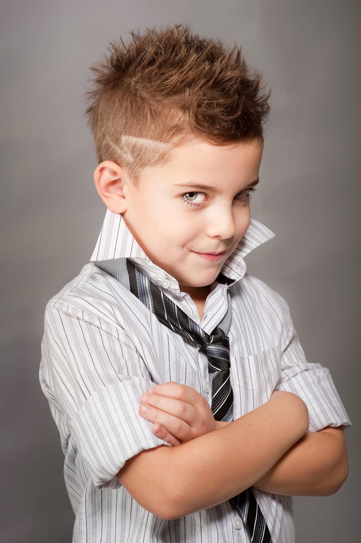 Модельная прическа для мальчиков фото