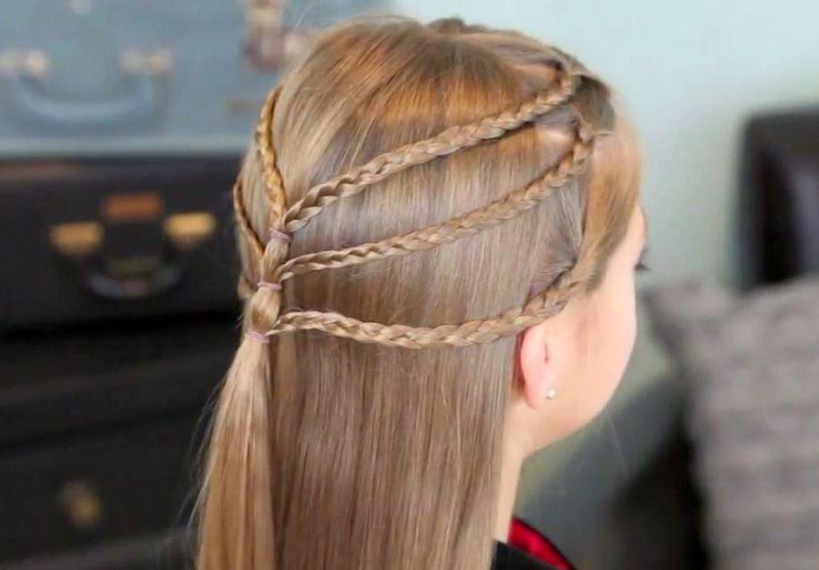 Прически женские из косичек с распущенными волосами