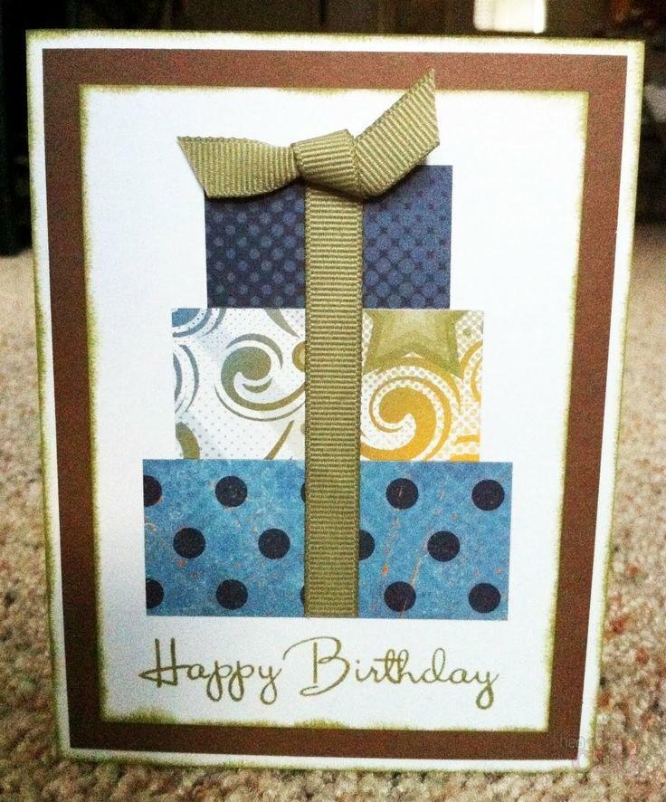 Как сделать открытку на день рождения мужчине 76