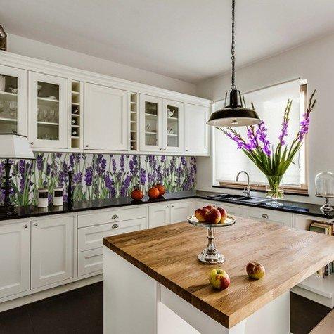 Лавандовая кухня в интерьере фото