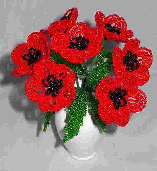 Показать поделки из бисера цветы 83