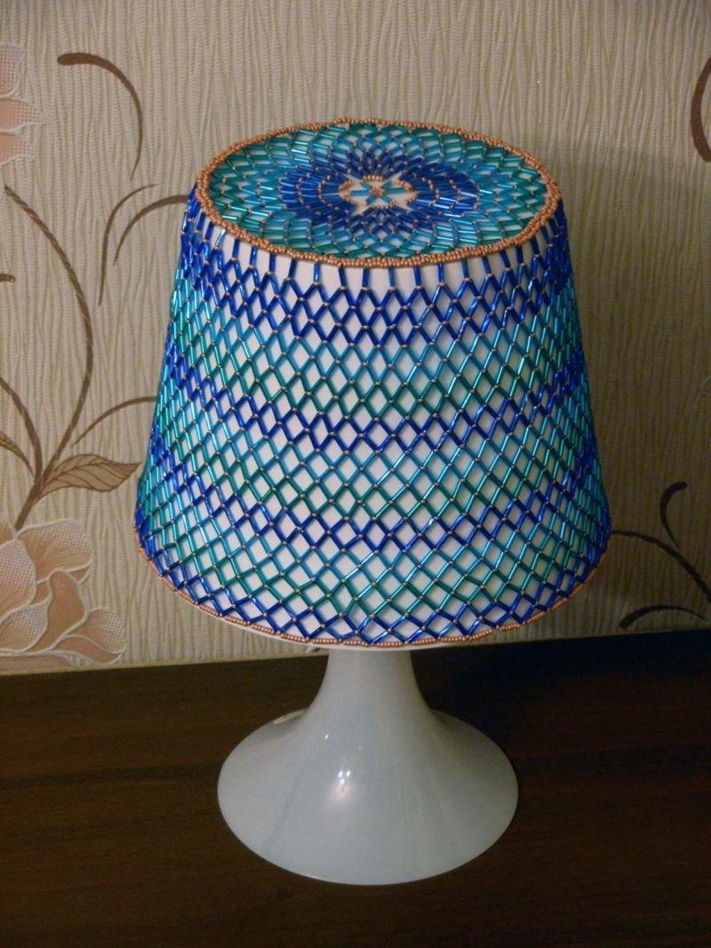Как сделать абажур для настольных ламп своими  386