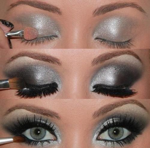 Красиво накрасить голубые глаза пошаговое