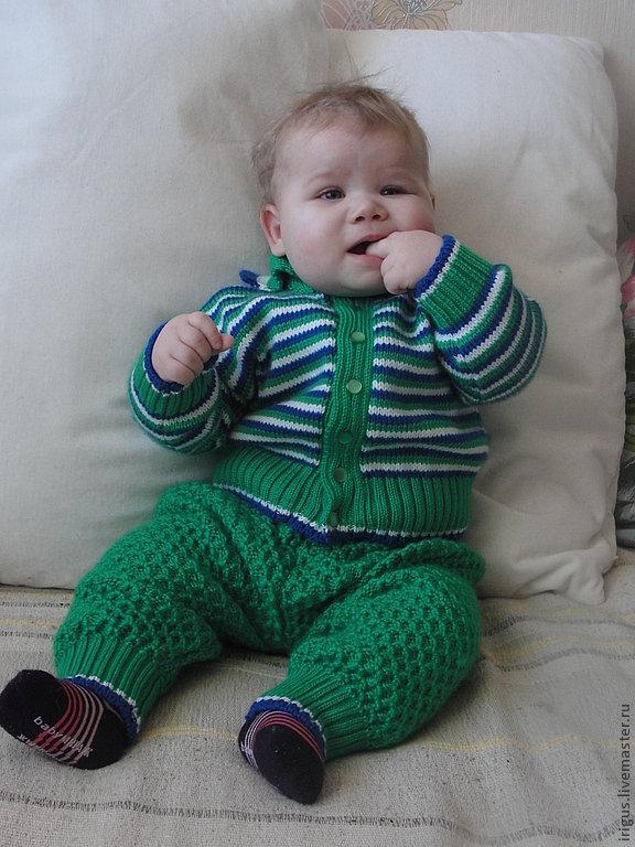 Детский костюм для мальчиков вязание спицами 81