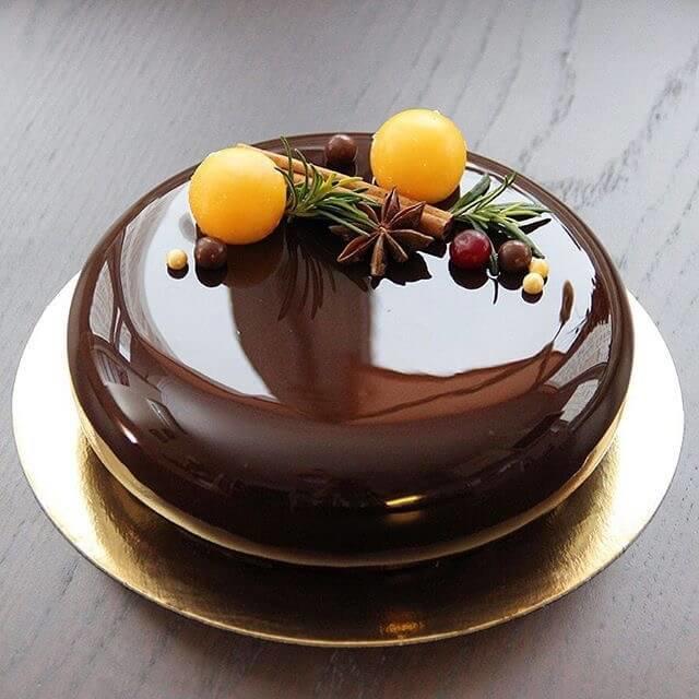 Зеркальная глазурь на торт ганаш