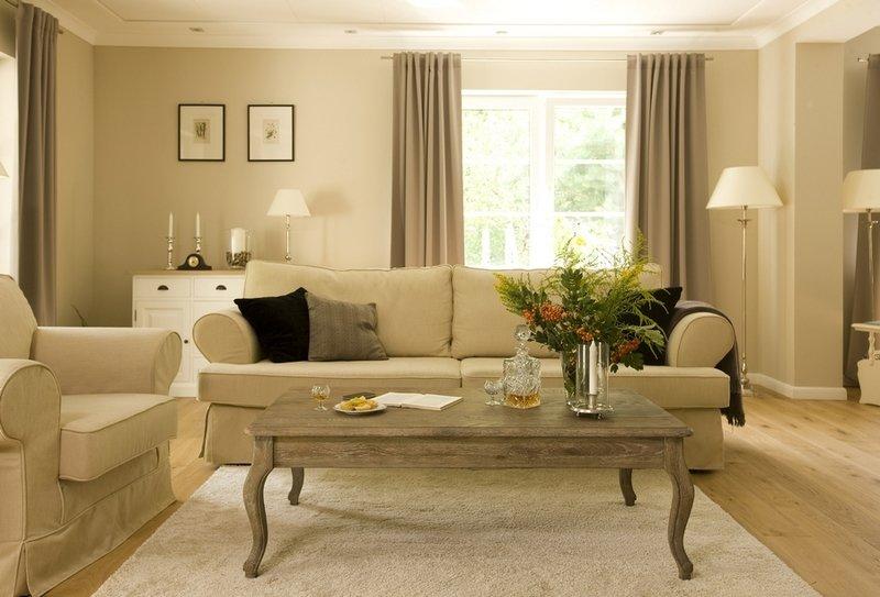 Стильная гостиная в бежевых тонах: 6 популярных оттенков