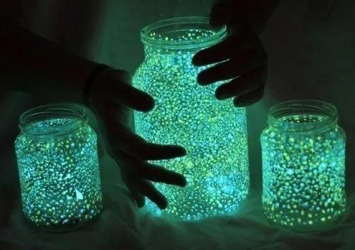 Как своими руками сделать светящиеся банки