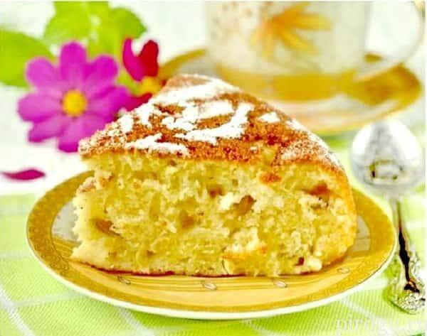 Рецепт манника на кефире с яблоком