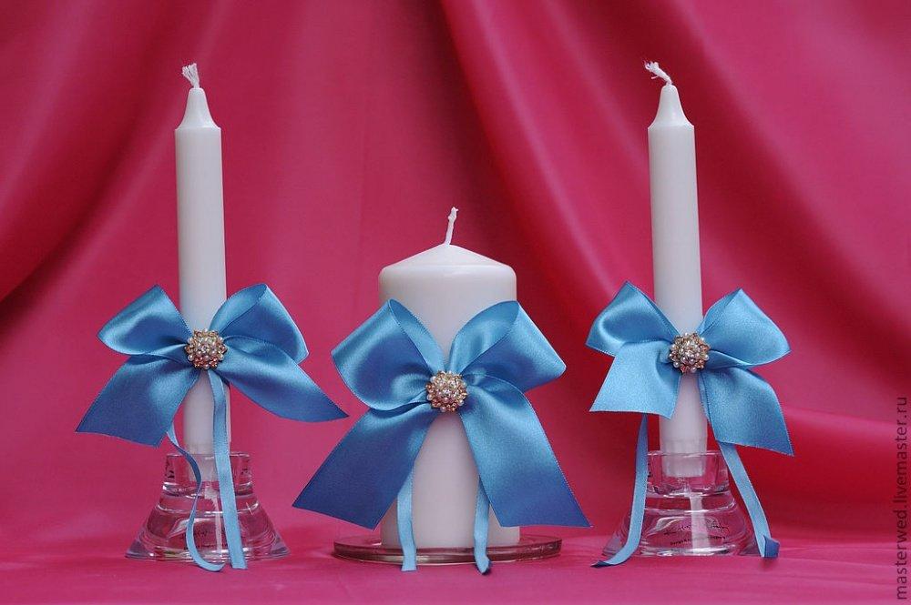 Свечи для свадьбы своим руками