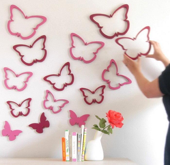 Бабочки на стене своими руками 8