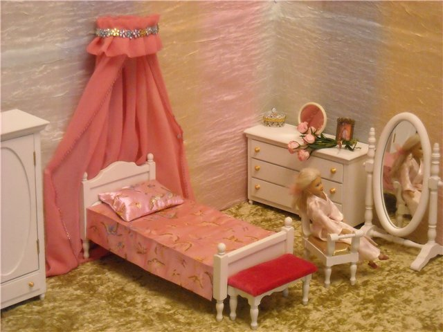 Мебель для барби своими руками спальня