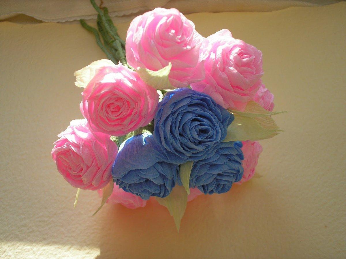 Цветы из гофрированной бумажных своими руками пошагово