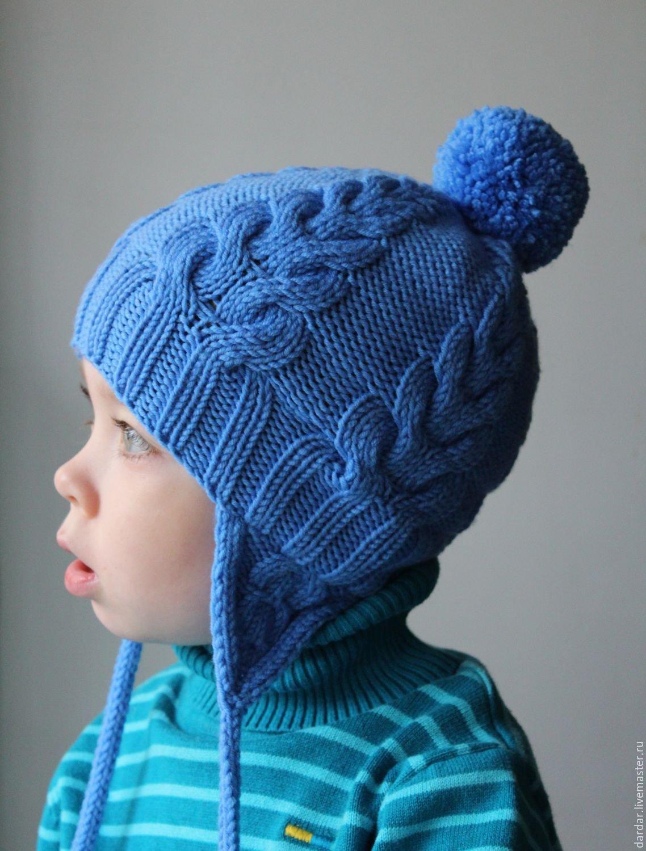 Детские шапки на 2 года вязание 38