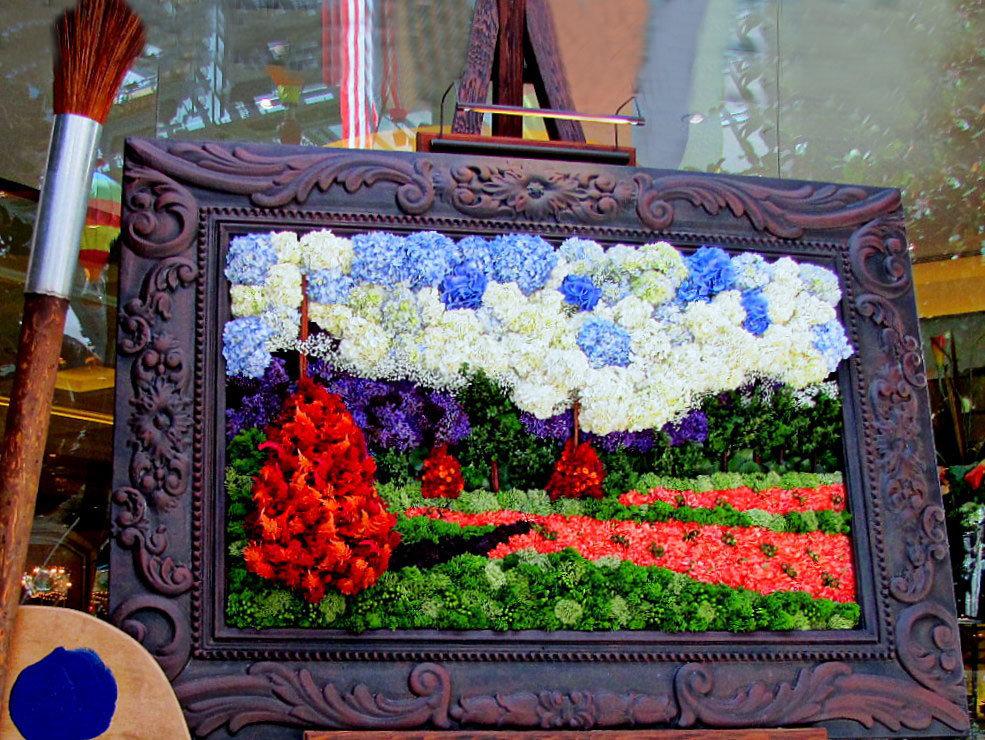 Панно из живых цветов своими руками 311