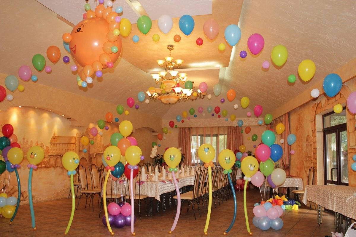 128 Оформление шарами своими руками на рождение ребенка