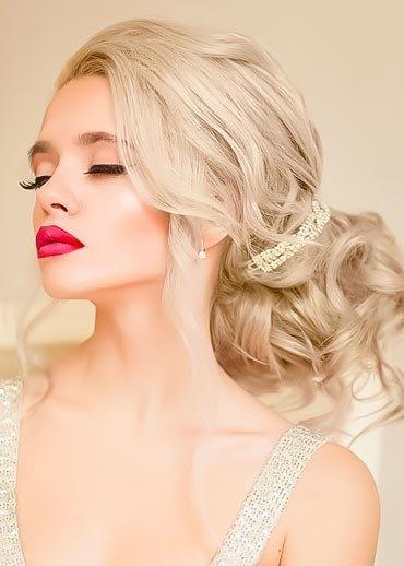 Макияж на свадьбу для блондинок с карими глазами 167
