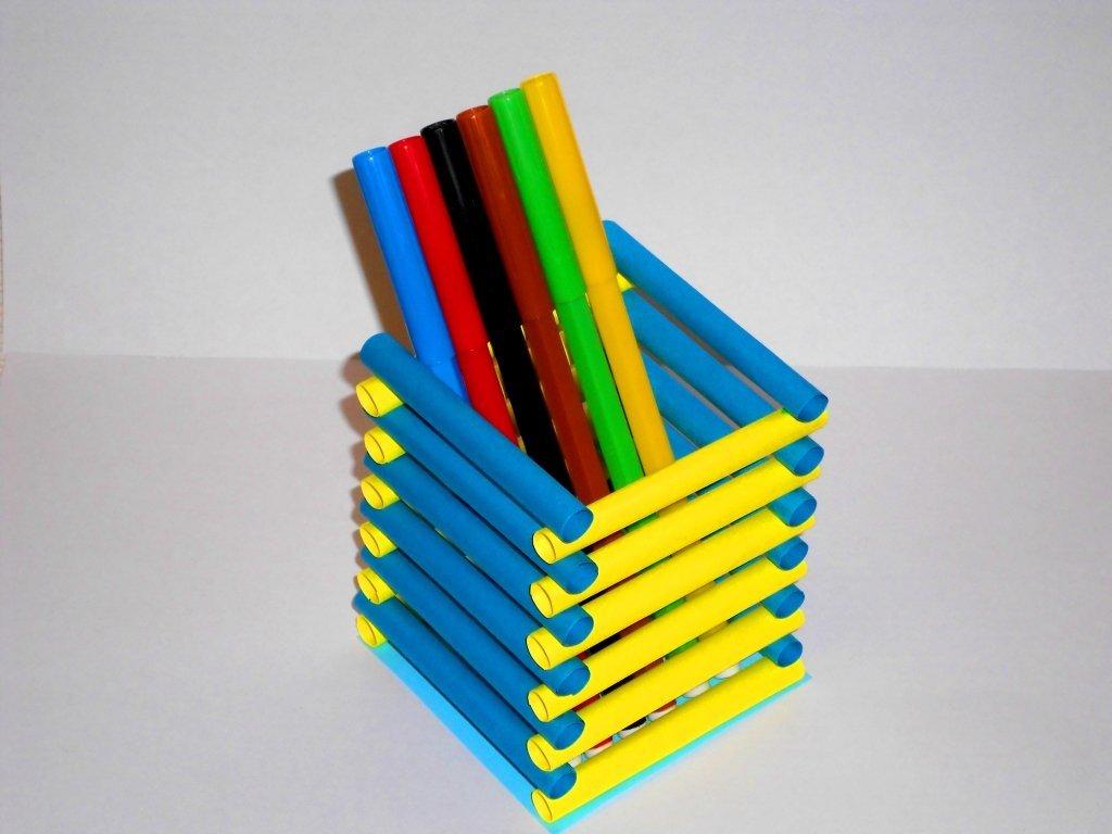 Как из поделки карандашей