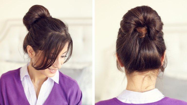 Женственная прическа на средние волосы