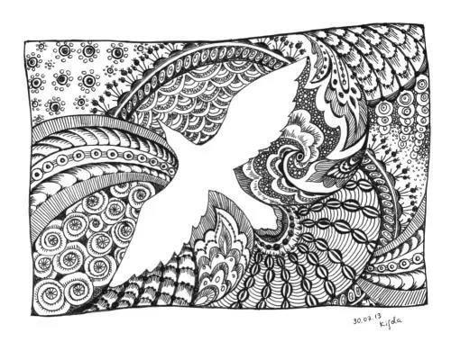 Рисунки из точек гелевой ручкой