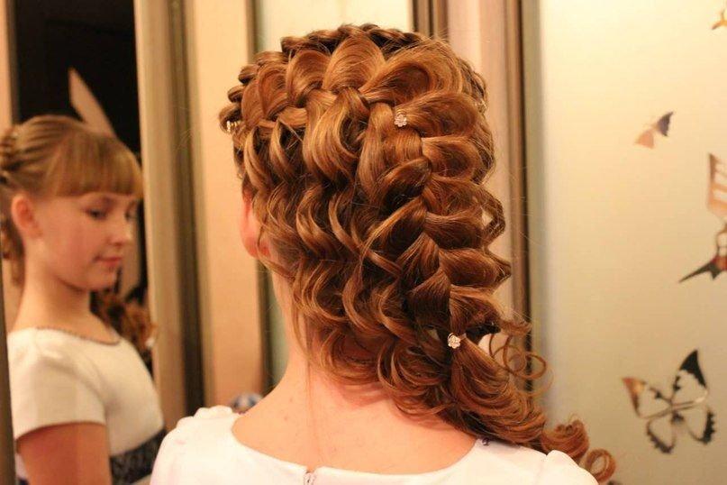 Прически из косичек на длинные волосы пошаговое фото