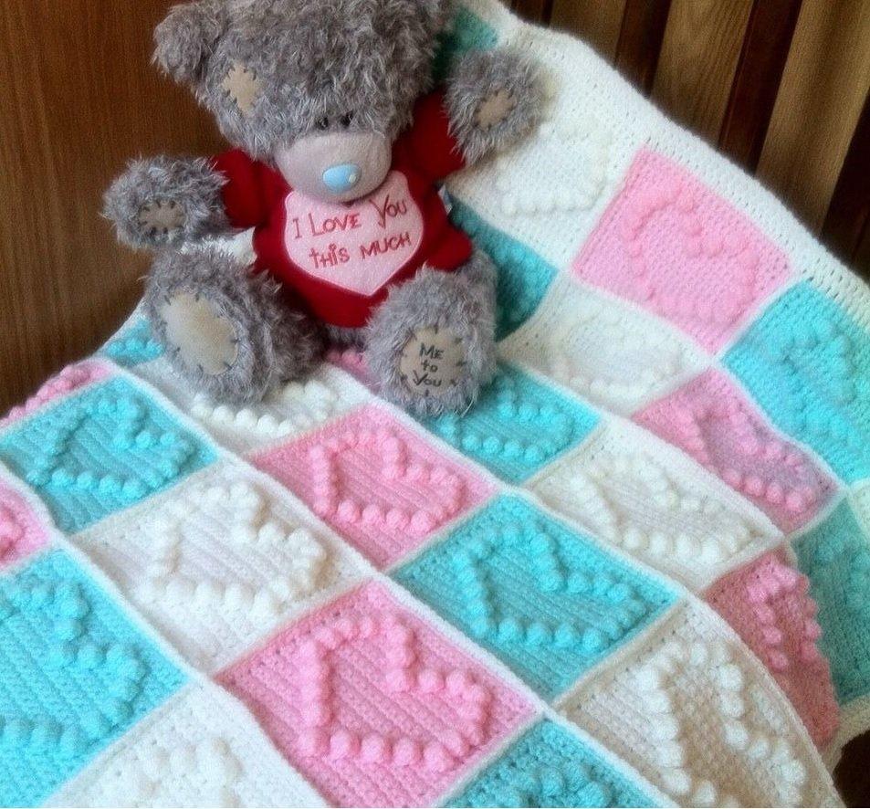 Детские одеяла для новорожденных своими руками вязание 35