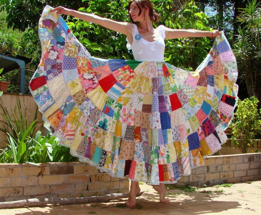 Платье из лоскутков ткани своими руками